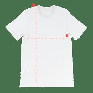 Maattabel t-shirt reg.